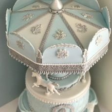 Carousel Cake Blue top
