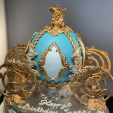 Royal Carriage Birthday Cake Blue