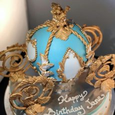 Royal Carriage Birthday Cake Blue 2