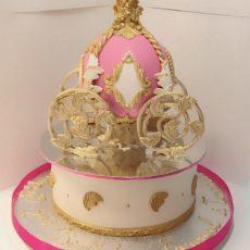 Royal Carriage Birthday Cake Pink
