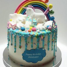 Unicorn Birthday cake full