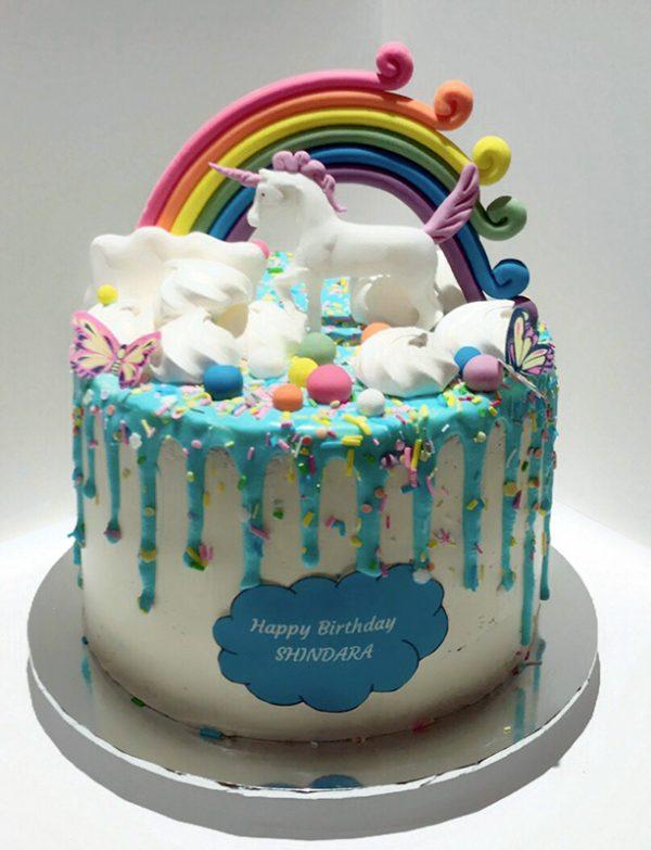 Unicorn Birthday cake full