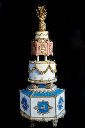 The French Rococo Luxurious Royal Wedding Cake design
