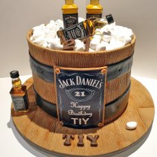 Jack Daniels Birthday Cake full