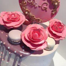 Elegant Pink Birthday Cake 2
