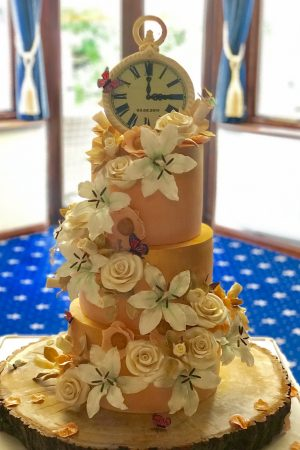 CHOCOVOCADOODAH wedding cake full view