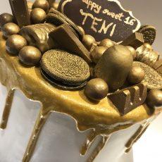 Golden Birthday Cake 2