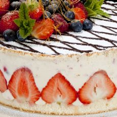 Elegant Fruits birthday cake
