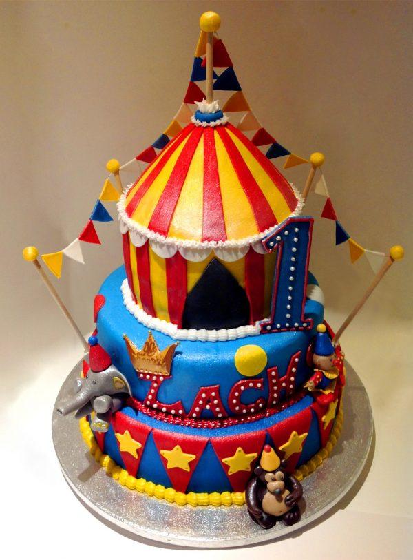 circus kids birthday cake