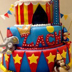 Circus kids birthday cake by Torte Cake Art